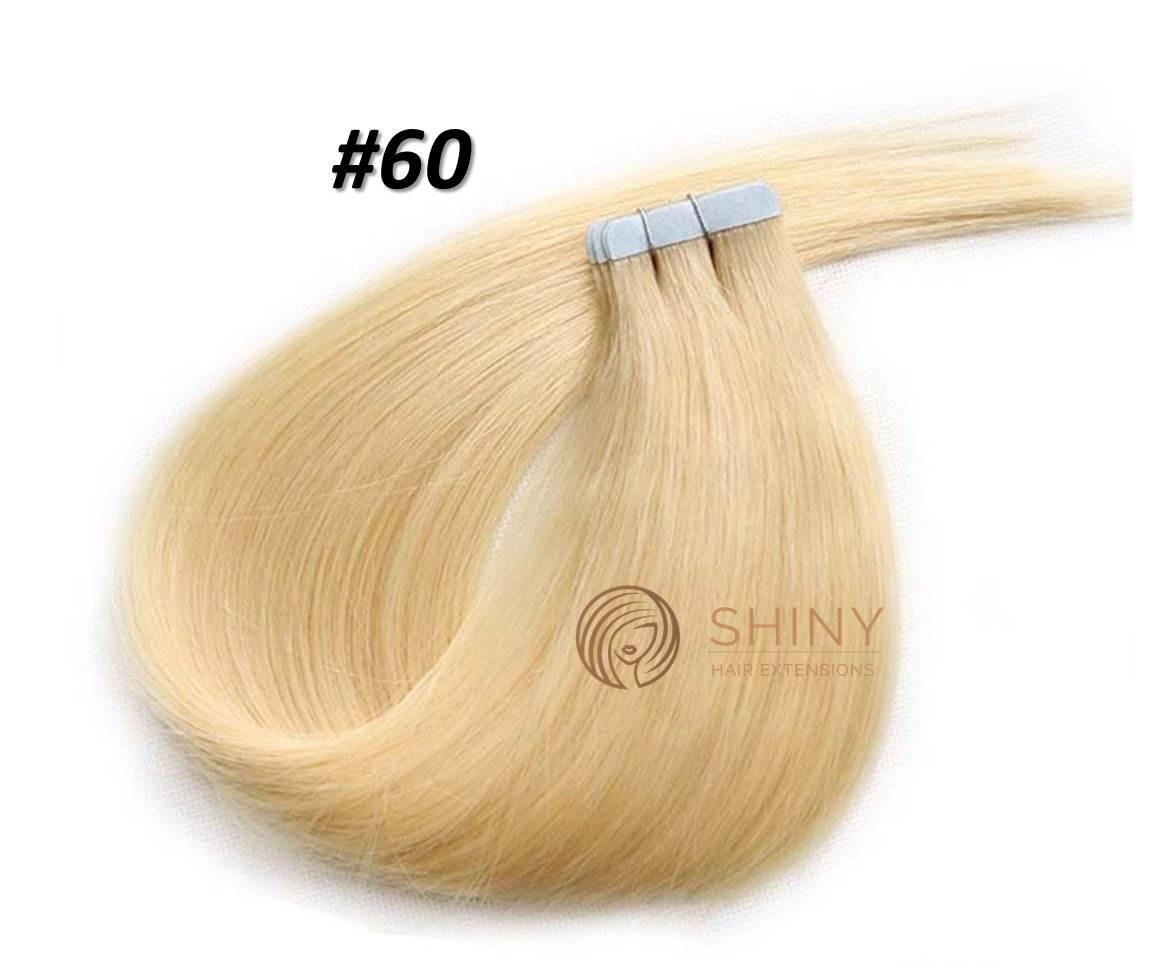 Extensiones Adhesivas #60 Rubio platino